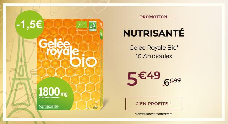 NUTRISANTÉ Gelée Royale Bio - 10 Ampoules