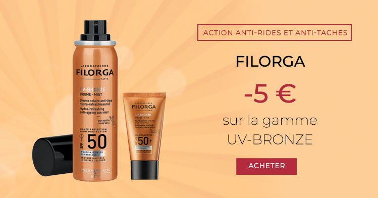 Filorga	-5 € de réduction UV-BRONZE Visage & Corps