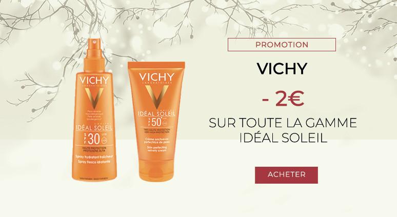 VICHY - 2 EUROS DE RÉDUCTION SUR LA GAMME IDÉAL SOLEIL